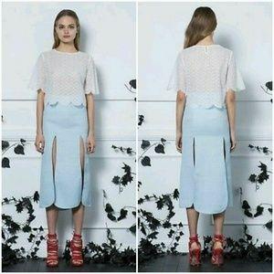 ASILIO Always a lady blue split skirt sz 4